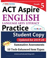 ACT Aspire Practice tedBook® - Grade 5 ELA, Teacher Copy