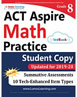 ACT Aspire Practice tedBook® - Grade 8 Math, Student Copy