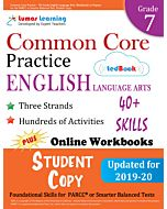 Common Core Practice tedBook ® - Grade 7 ELA, Student Copy
