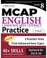 MCAP Practice tedBook® - Grade 8 ELA, Teacher Copy