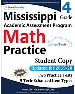 Mississippi Academic Assessment Program (MAAP) Practice tedBook® - Grade 4 Math, Student Copy