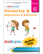 Lumos Expressions & Equations and Geometry Skill Builder, Grade 6 - Evaluating Expressions, Surface Area and Volume, Student Copy
