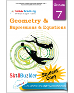 Lumos Expressions & Equations and Geometry Skill Builder, Grade 7 - Equations or Inequalities, Circles and Angles, Student Copy