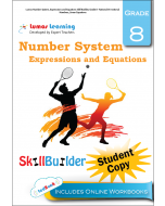 Lumos Number System, Expressions and Equations Skill Builder, Grade 8 - Rational Vs Irrational Numbers, Linear Equations, Student Copy