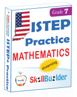Lumos StepUp SkillBuilder + Test Prep for ISTEP+: Online Practice Assessments and Workbooks - Grade 7 Math