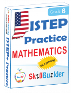 Lumos StepUp SkillBuilder + Test Prep for ISTEP+: Online Practice Assessments and Workbooks - Grade 8 Math