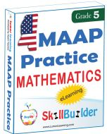 Lumos StepUp SkillBuilder + Test Prep for MAAP: Online Practice Assessments and Workbooks - Grade 5 Math