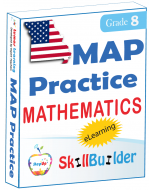 Lumos StepUp SkillBuilder + Test Prep for MAP: Online Practice Assessments and Workbooks - Grade 8 Math