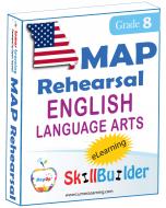 Lumos StepUp SkillBuilder + Test Prep for MAP: Online Practice Assessments and Workbooks - Grade 8 ELA