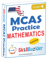Lumos StepUp SkillBuilder + Test Prep for MCAS: Online Practice Assessments and Workbooks - Grade 4 Math