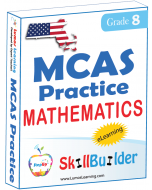 Lumos StepUp SkillBuilder + Test Prep for MCAS: Online Practice Assessments and Workbooks - Grade 8 Math