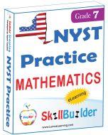 Lumos StepUp SkillBuilder + Test Prep for NYST: Online Practice Assessments and Workbooks - Grade 7 Math