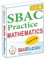 Lumos StepUp SkillBuilder + Test Prep for SBAC: Online Practice Assessments and Workbooks - Grade 4 Math