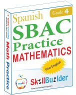 Lumos StepUp SkillBuilder + Test Prep for SBAC in Spanish: Online Practice Assessments and Workbooks - Grade 4 Math