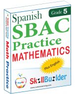Lumos StepUp SkillBuilder + Test Prep for SBAC in Spanish: Online Practice Assessments and Workbooks - Grade 5 Math