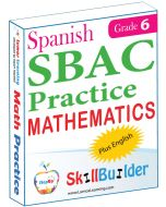 Lumos StepUp SkillBuilder + Test Prep for SBAC in Spanish: Online Practice Assessments and Workbooks - Grade 6 Math