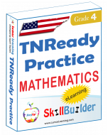 Lumos StepUp SkillBuilder + Test Prep for TNReady: Online Practice Assessments and Workbooks - Grade 4 Math