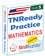 Lumos StepUp SkillBuilder + Test Prep for TNReady: Online Practice Assessments and Workbooks - Grade 5 Math
