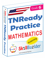 Lumos StepUp SkillBuilder + Test Prep for TNReady: Online Practice Assessments and Workbooks - Grade 6 Math