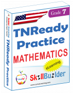 Lumos StepUp SkillBuilder + Test Prep for TNReady: Online Practice Assessments and Workbooks - Grade 7 Math