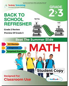 Back to School Refresher tedBook - Grade 2>3 Math, Student Copy