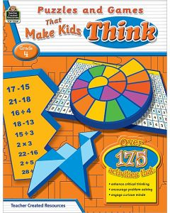 Puzzles and Games that Make Kids Think (Gr. 4)