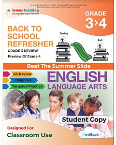 Back to School Refresher tedBook - Grade 3>4 ELA, Student Copy