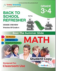 Back to School Refresher tedBook - Grade 3>4 Math, Student Copy
