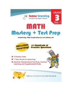 Grade 3 Math Mastery and Test Prep : Entertaining videos and eLearning Disc 1
