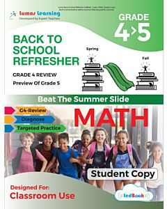 Back to School Refresher tedBook - Grade 4>5 Math, Student Copy