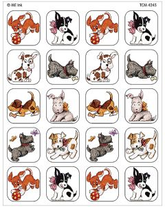 Playful Pups Stickers from Mary Engelbreit