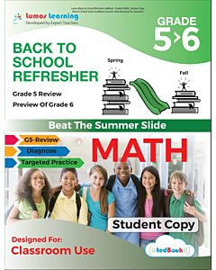 Back to School Refresher tedBook - Grade 5>6 Math, Student Copy