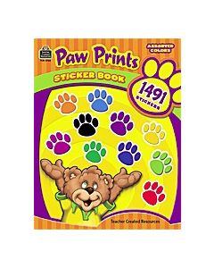 Paw Prints Sticker Book
