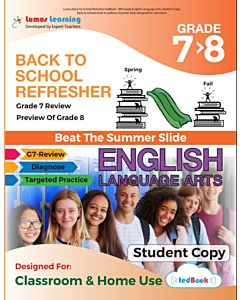 Back to School Refresher tedBook - Grade 7>8 ELA, Student Copy