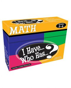 I Have, Who Has Math Game (Gr.5-6)