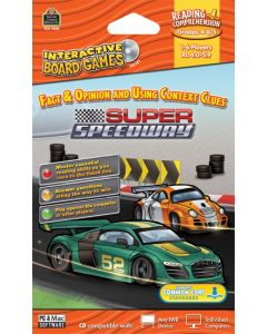 Fact & Opinion and Using Context Clues: Super Speedway Interactive Game CD (Gr.3-5)
