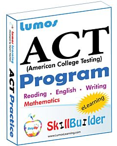 Lumos StepUp for Accelerated ACT Prep - Includes English, Math, Reading, and Writing