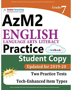 AzM2 Practice tedBook® - Grade 7 ELA, Student Copy