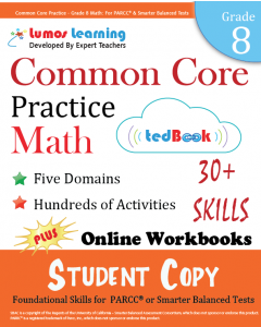 Common Core Practice tedBook® - Grade 8 Math, Student Copy