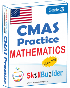 Lumos StepUp SkillBuilder + Test Prep for CMAS: Online Practice Assessments and Workbooks - Grade 3 Math