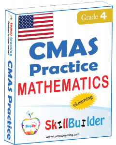 Lumos StepUp SkillBuilder + Test Prep for CMAS: Online Practice Assessments and Workbooks - Grade 4 Math