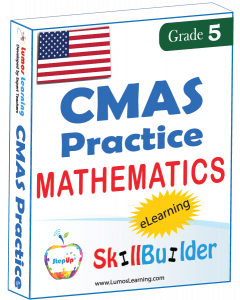 Lumos StepUp SkillBuilder + Test Prep for CMAS: Online Practice Assessments and Workbooks - Grade 5 Math