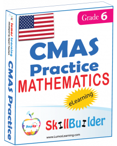 Lumos StepUp SkillBuilder + Test Prep for CMAS: Online Practice Assessments and Workbooks - Grade 6 Math