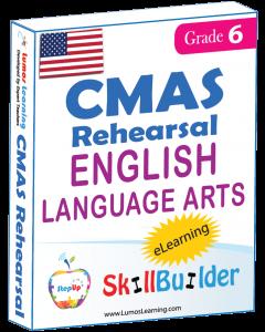 Lumos StepUp SkillBuilder + Test Prep for CMAS: Online Practice Assessments and Workbooks - Grade 6 ELA