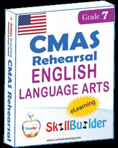 Lumos StepUp SkillBuilder + Test Prep for CMAS: Online Practice Assessments and Workbooks - Grade 7 ELA