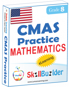 Lumos StepUp SkillBuilder + Test Prep for CMAS: Online Practice Assessments and Workbooks - Grade 8 Math
