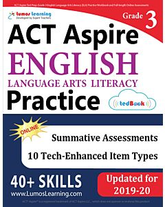 ACT Aspire Practice tedBook® - Grade 3 ELA, Teacher Copy