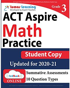 ACT Aspire Practice tedBook® - Grade 3 Math, Student Copy