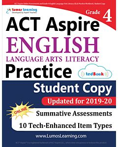 ACT Aspire Practice tedBook® - Grade 4 ELA, Teacher Copy
