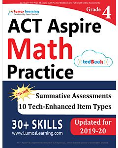 ACT Aspire Practice tedBook® - Grade 4 Math, Teacher Copy